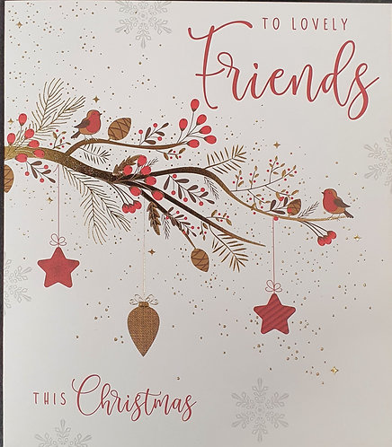 Friends Christmas Greeting Card