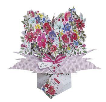Birthday Flowers Bouquet Birthday Pop Up Card
