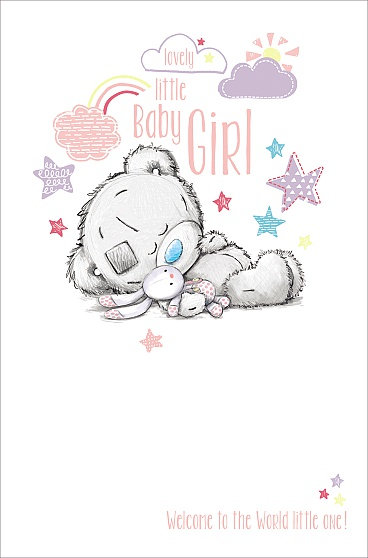 Birth Of A New Baby Girl - Me To You  Greeting Card