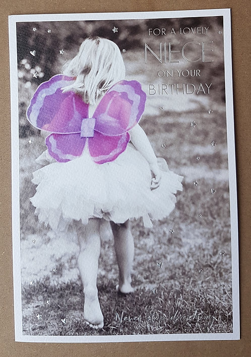 Niece Birthday Greeting Card With Fairy Wings