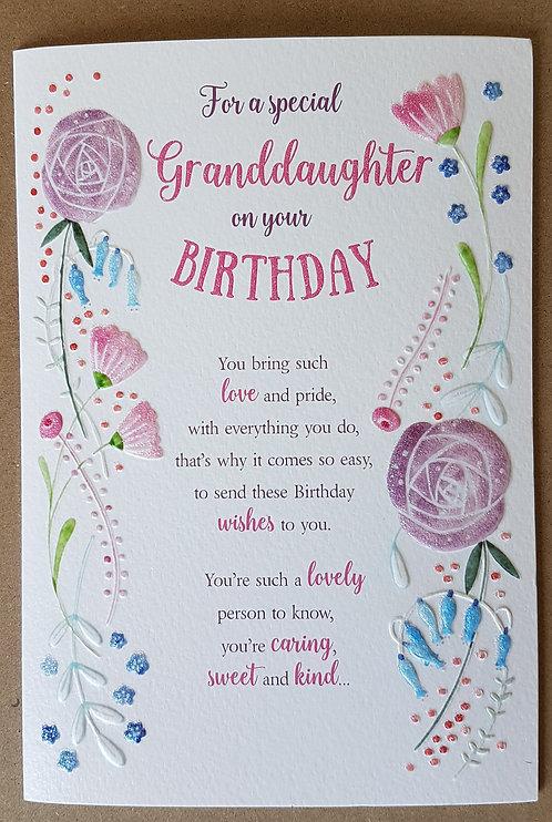 Eternal Range - Granddaughter Birthday Card