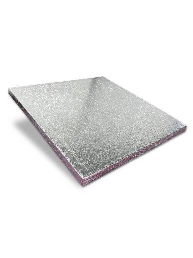 10 Inch Square 1cm Thick Silver Cake Board