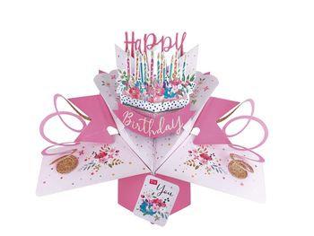 Birthday Cake Pop Up Greeting Card