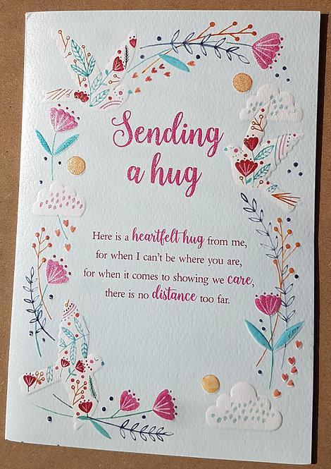 Sending A Hug Greeting Card From The Eternal Range