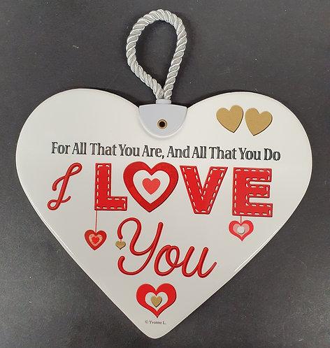Ceramic Heart Plaque - LOVE