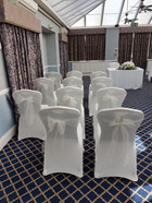 wedding ceremony chair covers