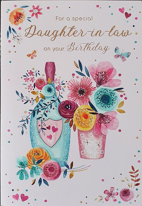 Daughter-in-Law Birthday Greeting Card