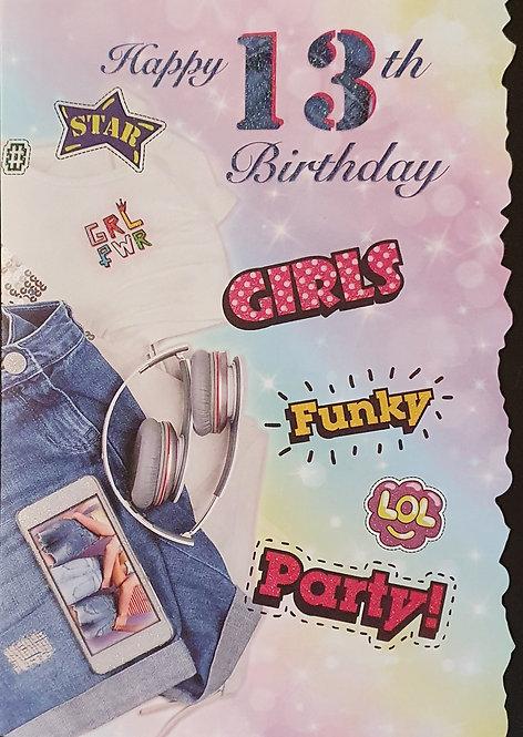 13th Female Birthday Card