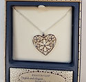 equilibrium silver plated heart necklace