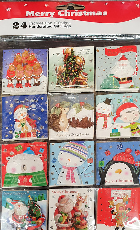 24 Cute Handcrafted Christmas Gift Tags