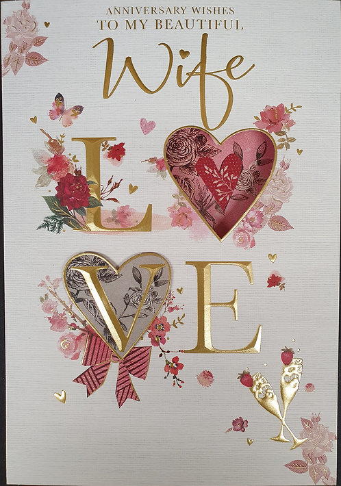 Wife Anniversary Greeting Card Front