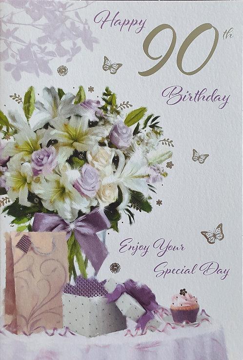90th Female Birthday Card