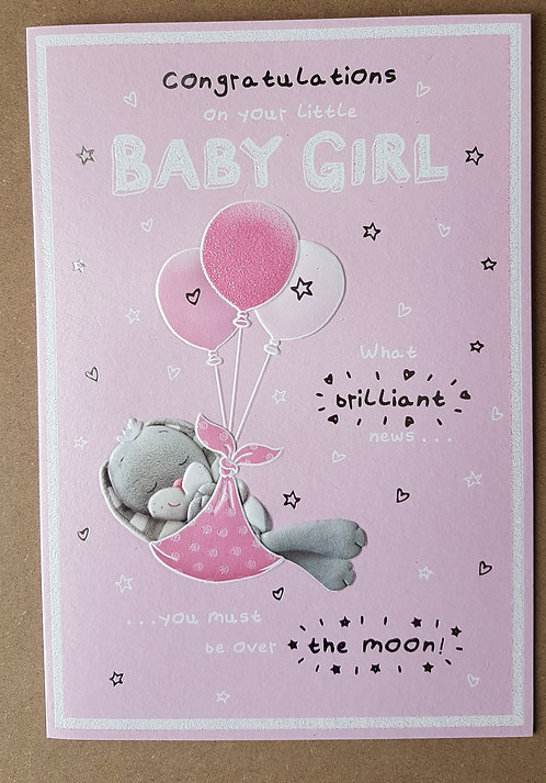 A New Baby Girl - Greeting Card