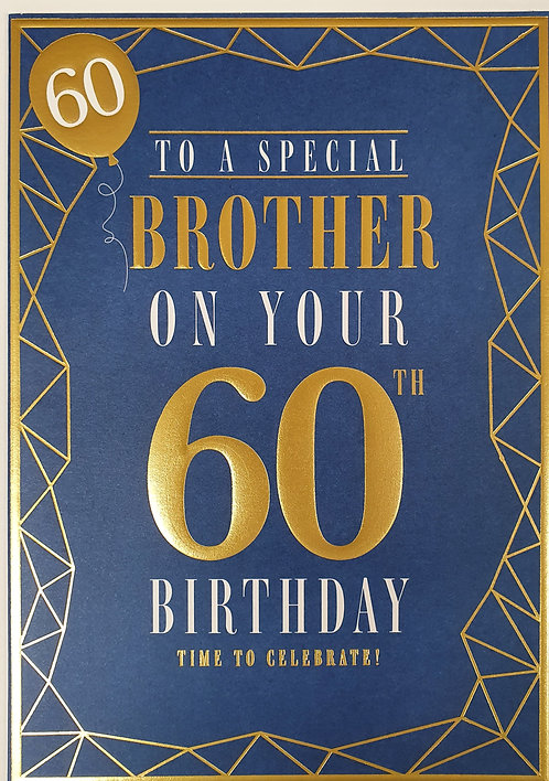 Brother 60th Birthday Greeting Card