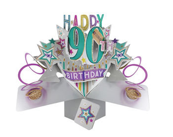 90th - Stars Pop Up Greeting Card