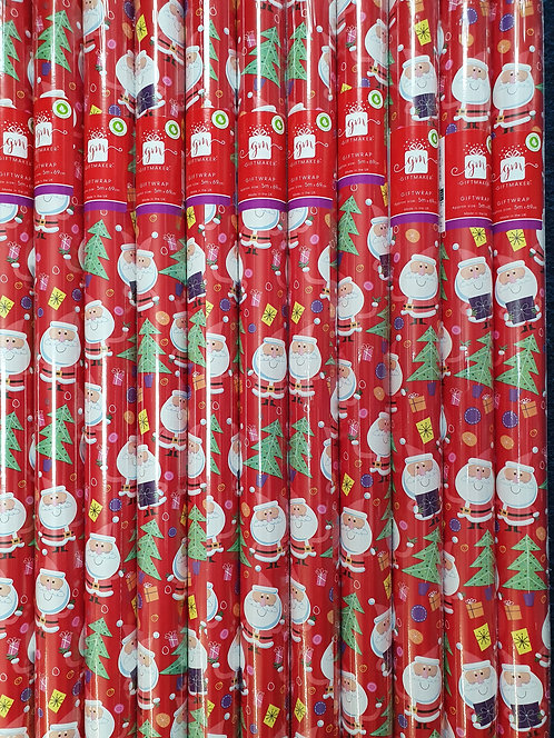 Christmas Rolls of Wrapping Paper -  Santa