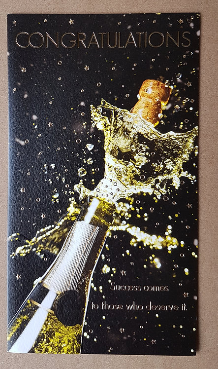 Congratulations Greeting Card With Champaign Bottle