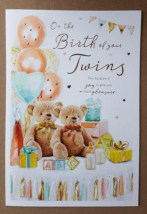 Birth of Twins - Greeting Card