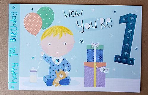 1st Birthday Greeting Card
