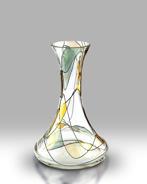 Gold Mosaic Ella Mouth Blown Vase by Nobile Glass and Giftware