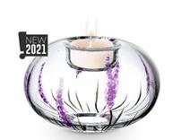 Lavender Glass Tea Light Holder by Nobile Glass and Giftware