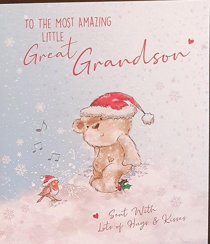 Great Grandson Christmas Greeting Card