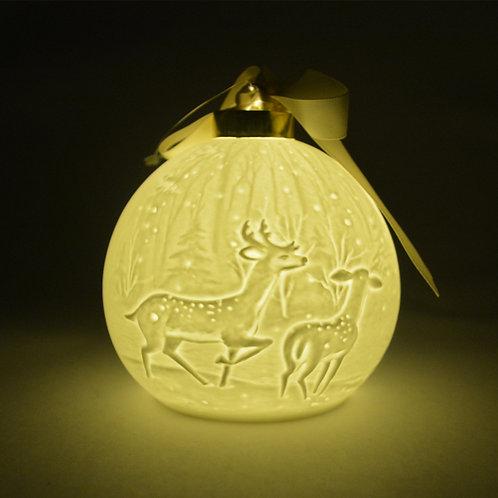 Nordic Lights Christmas Bauble - Reindeer