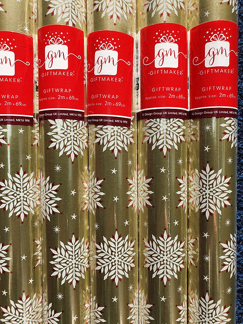 Christmas Wrapping Paper -  Snowflakes