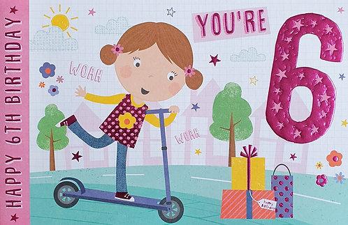 6th Female Birthday Card