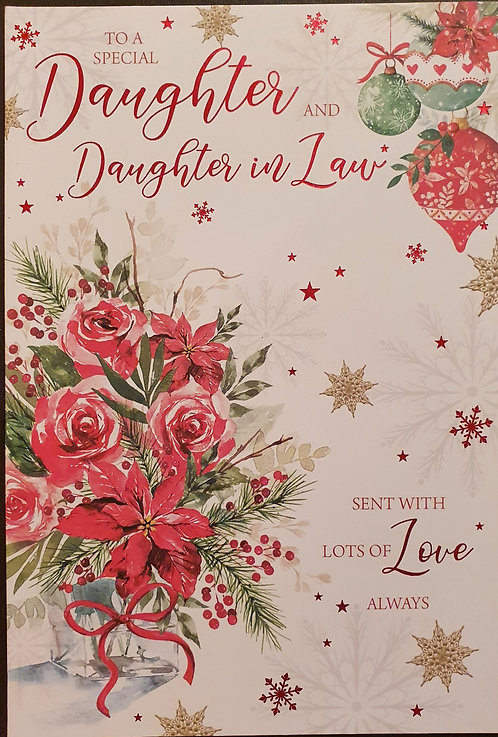 Daughter And Daughter-in-Law Christmas Greeting Card
