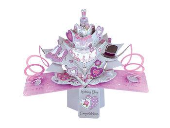 Wedding Day - Cake Pop Up Greeting Card
