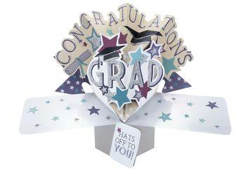 Graduation - Mortarboards Pop Up Card