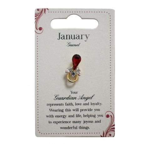 Guardian Angel Pin - January
