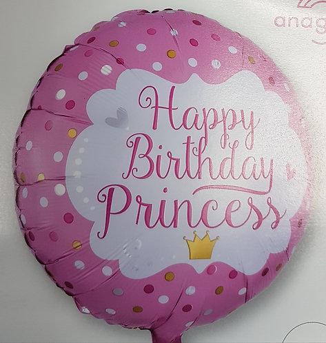 "18"" Princess Balloon - Helium Filled"