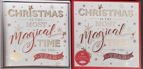 Multipack Box of 10 Luxury Christmas Cards - Text