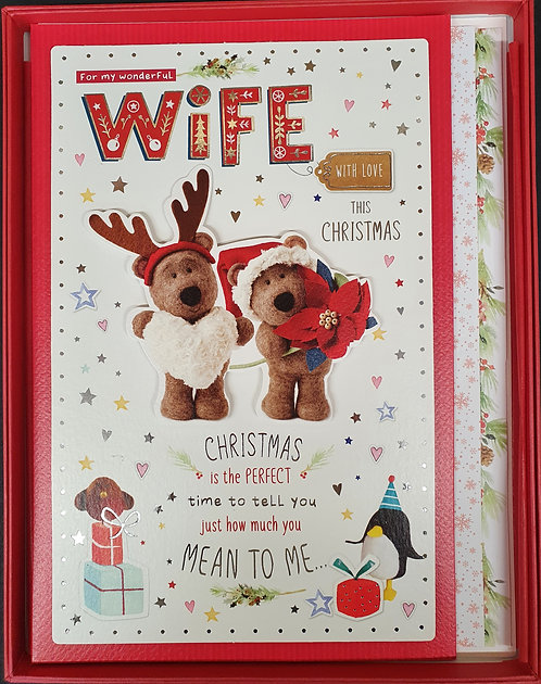 Wife Christmas Greeting Card In A Box