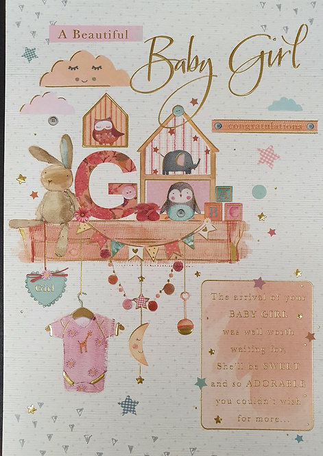 Birth Of A New Baby Girl  Greeting Card