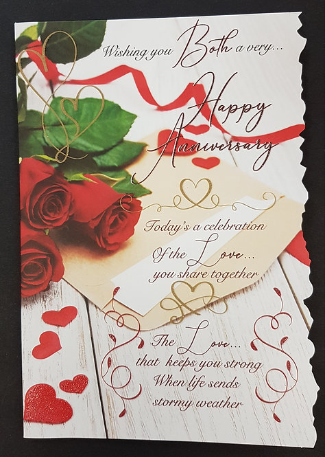 Anniversary -  To You Both Greeting Card