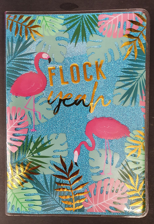Flamingo Glitter A5 Notebook