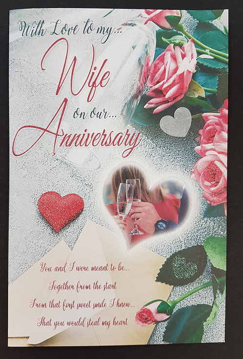Anniversary - Wife Greeting Card