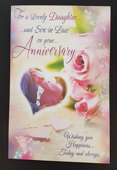 Anniversary - Daughter & Son-in-Law Greeting Card