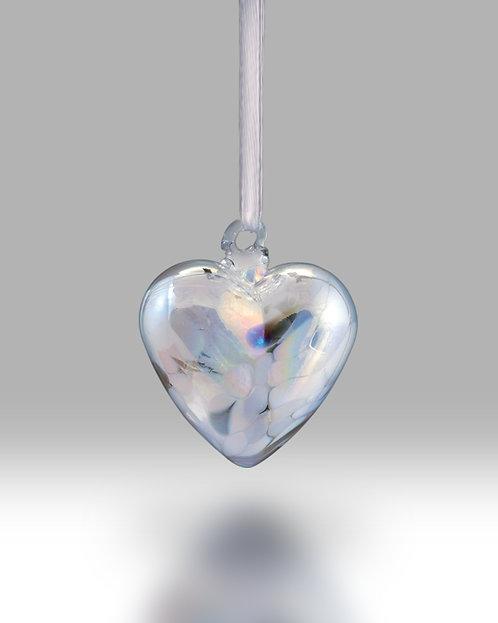 April Birth Gem Heart Nobile Glassware Friendship Ball