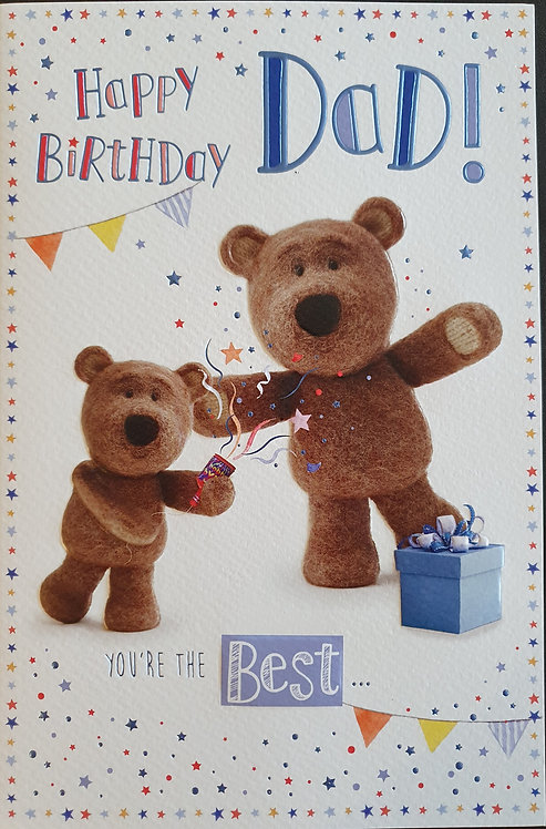 Dad Birthday Card - Barley Bear