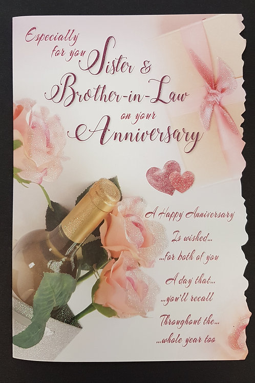 Anniversary - Sister & Brother-in-Law Greeting Card