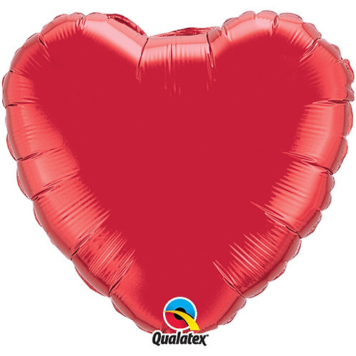 "Qualatex 18"" Red Heart Balloon - Helium Filled"