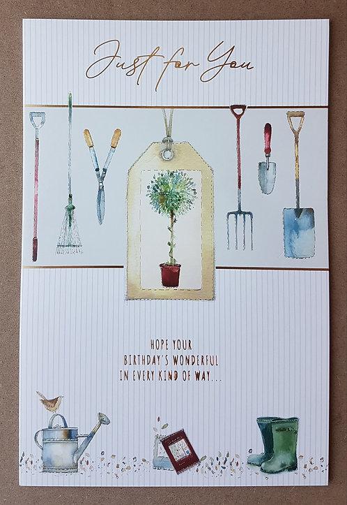 Male Birthday Greeting Card - Gardening