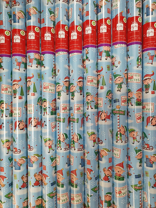 Christmas Rolls of Wrapping Paper - Elves