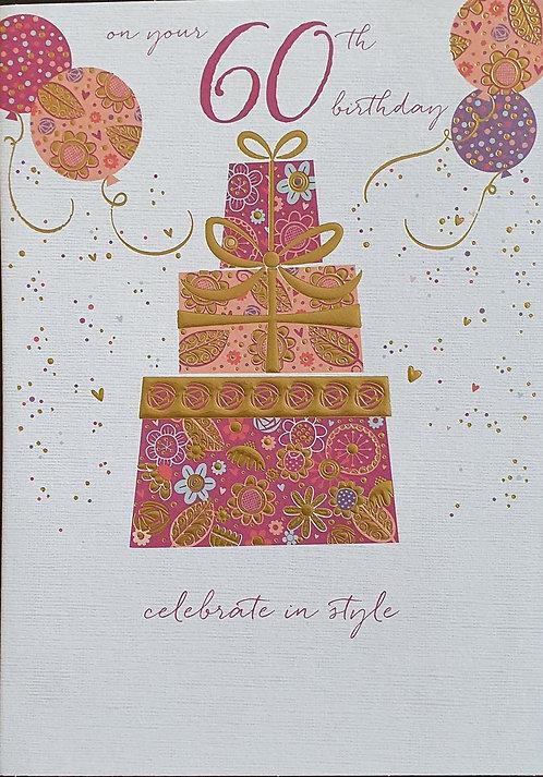 60th Female Birthday Card