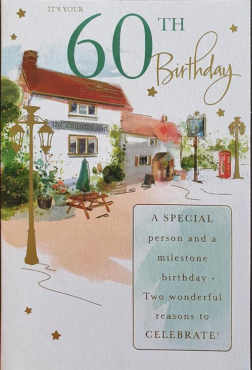 Male 60th Birthday Card