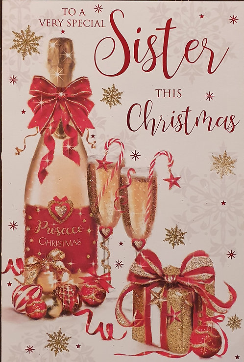 Sister Christmas Greeting Card